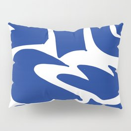 Blue shapes on white background Pillow Sham