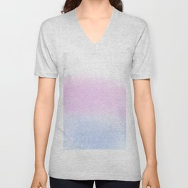 Trans Watercolor Wash Unisex V-Neck