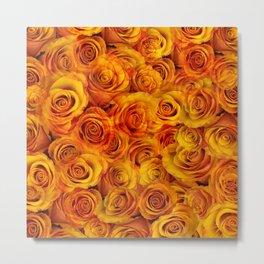 Grenadier Tangerine Roses Metal Print