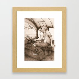 The King of the Road (Retro)  Framed Art Print