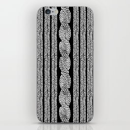 Cable Stripe Black iPhone Skin