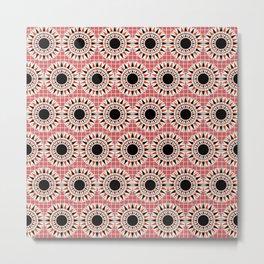 Black stars pattern Metal Print