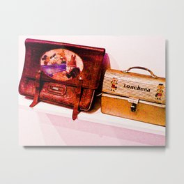 """""""The bag and lunchbox, a child!"""" Metal Print"""