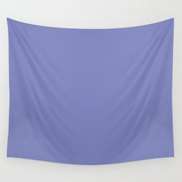 Deep Periwinkle Color Accent Wall Tapestry
