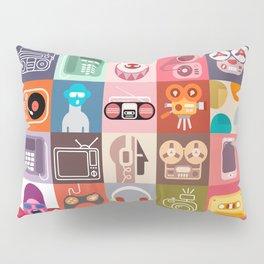 Clip Art Collage Pillow Sham