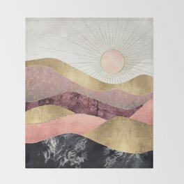 Blush Sun Throw Blanket