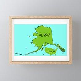 Alaska and the Lower 48 Forty-eight Framed Mini Art Print