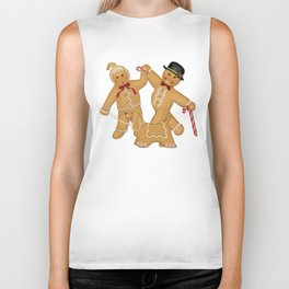Gingerbread Family Winter Fun Biker Tank