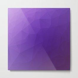 The Ultraviolet Low Poly Metal Print