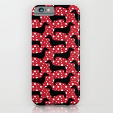 Polka Dachshunds iPhone 6 Slim Case