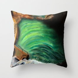 Over the falls Throw Pillow