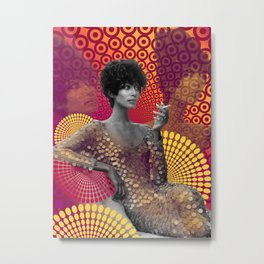 Supermodel Donyale 2 - Supermodels of the Sixties Series Metal Print