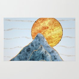 Sunset in the Volcanic Mountains Rug