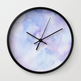 Mermaid Vibes - Purple Blue Ocean Splash Wall Clock