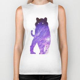 Space Cat // Galaxy Tiger // Guardian of the Purple Nebula Biker Tank