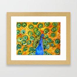 Peacock Prowl Framed Art Print