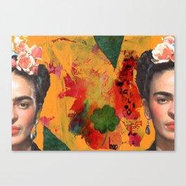 Tribute to Frida Kahlo #29 Canvas Print