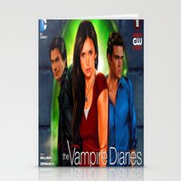the vampire diaries Stationery Cards featuring The Vampire Diaries by Don Kuing