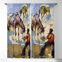 "William Leigh Western Art ""One Good Turn"" Blackout Curtain"