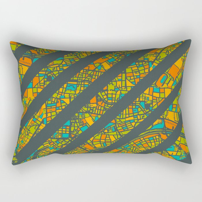 Arrows Map Rectangular Pillow