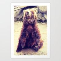 teddy bear Art Prints featuring Teddy? by Gato Gris Games