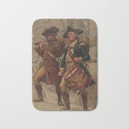 Vintage Continental Army Soldiers Painting (1875) Bath Mat