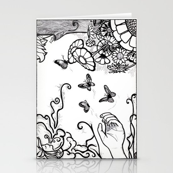 Releasing Butterflies Stationery Cards