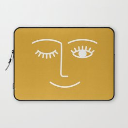 wink / mustard Laptop Sleeve
