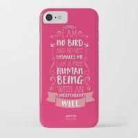 jane eyre iPhone & iPod Cases featuring Jane Eyre by Nikita Gill