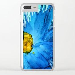 Cobalt Splash Clear iPhone Case
