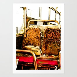 This seat is taken. Art Print