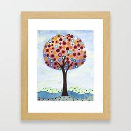 Polka Dot Tree Framed Art Print