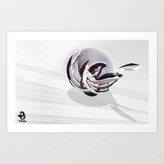 3d graffiti - sphere Art Print