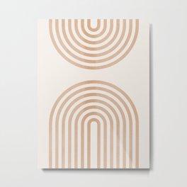 Rainbow lines Metal Print