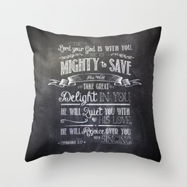 mighty to save Throw Pillow
