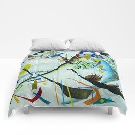 Vassily Kandinsky 1921 Segment blue Comforters