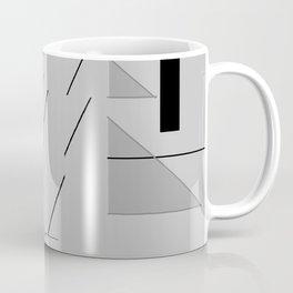 Grey Triangles Pattern Coffee Mug