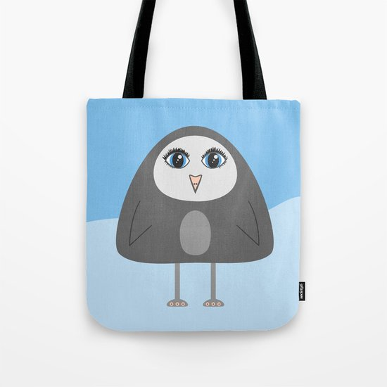 Cute Geometric Penguin Tote Bag
