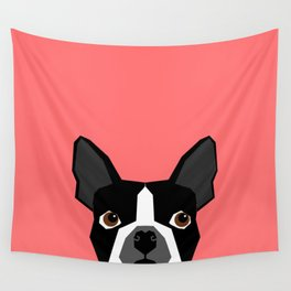 Kennedy - Boston Terrier cute dog themed gifts for small dog owners and Boston Terrier gifts  Wall Tapestry