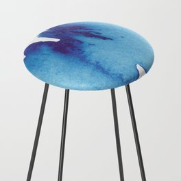 Blue Wave Counter Stool