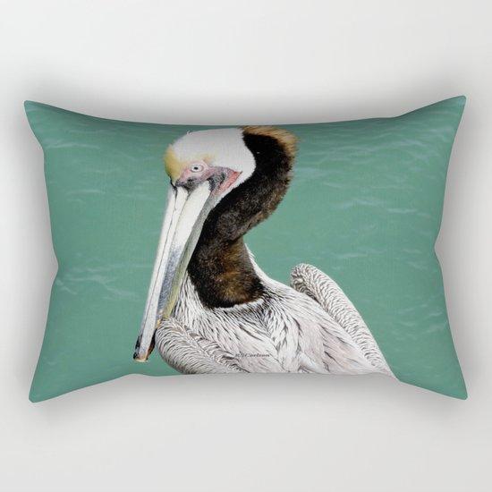 Brown Pelican Upstanding Rectangular Pillow