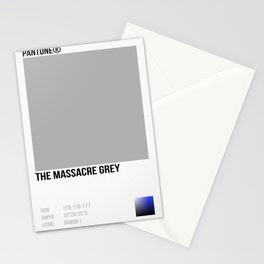 THE MASSACRE GREY Stationery Cards