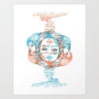 Three Headed Beast Art Print