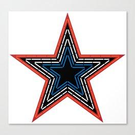 Roanoke Pride Mill Mountain Star Canvas Print