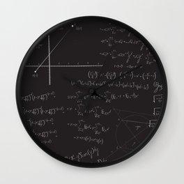 Mathematical seamless pattern Wall Clock