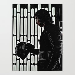 Kylo in the Dark Poster