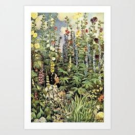 Jessie Willcox Smith - A Child's Garden Of Verses - Digital Remastered Edition Art Print