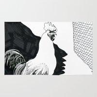 animal crew Area & Throw Rugs featuring Animal by Chuchuligoff