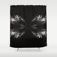bender Shower Curtains featuring Light Bender by Sloane Dakota