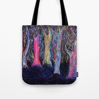 shining Tote Bags featuring Shining forest by ShaMiLa